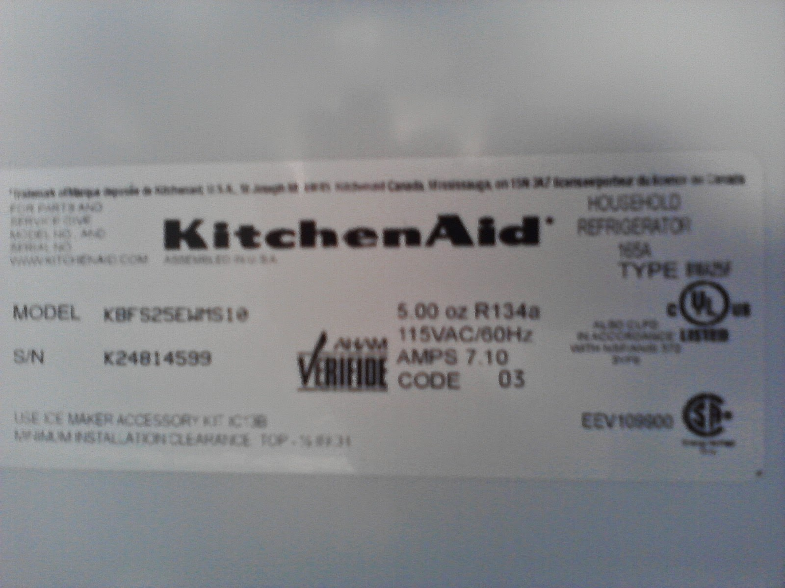 Kitchenaid Dishwasher Model Numbers the w.l may company blog: kelly's korner - appliance parts buying 101