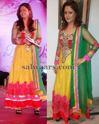 Shilpa Chakraborthy Yellow Salwar