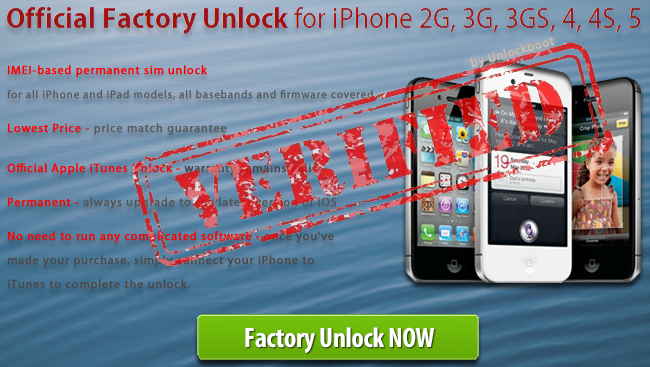 unlock barred iPhone 4