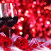 Red Roses with wine images photos