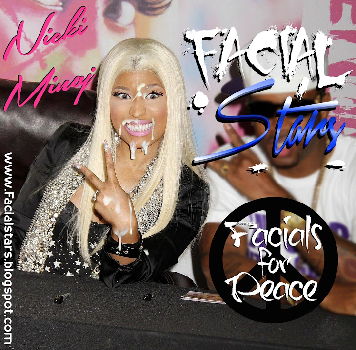 Nicki Minaj looking retarded taking a facial for peace