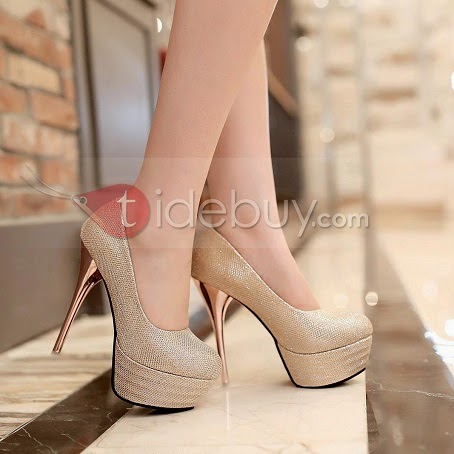 Plus Size Point Toe Pu Stiletto Heels Platform Wedding Shoes