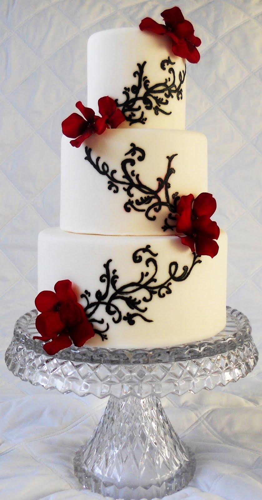 Pin Ivory Black Wedding Cake By Katies Cakes Cake on Pinterest