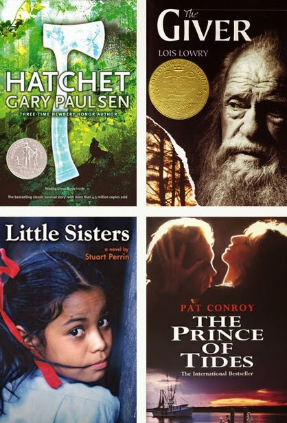 My Week In Books: Hatchet, The Giver, Little Sisters and The Prince of Tides.