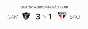 Brasileirão 2015 - 16ª Rodada (29 de Julho) - Atlético-MG vs São Paulo