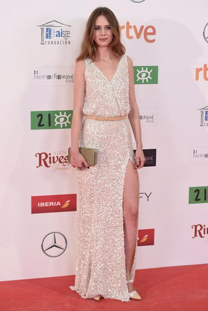 Arantxa Martí en los Premios Forqué, enero 2016