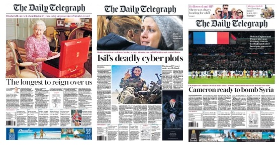 single-subject front pages
