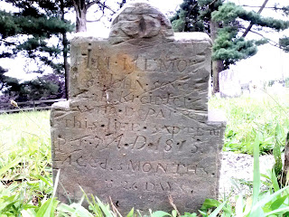 Pennsylvania Dutch slate tombstone