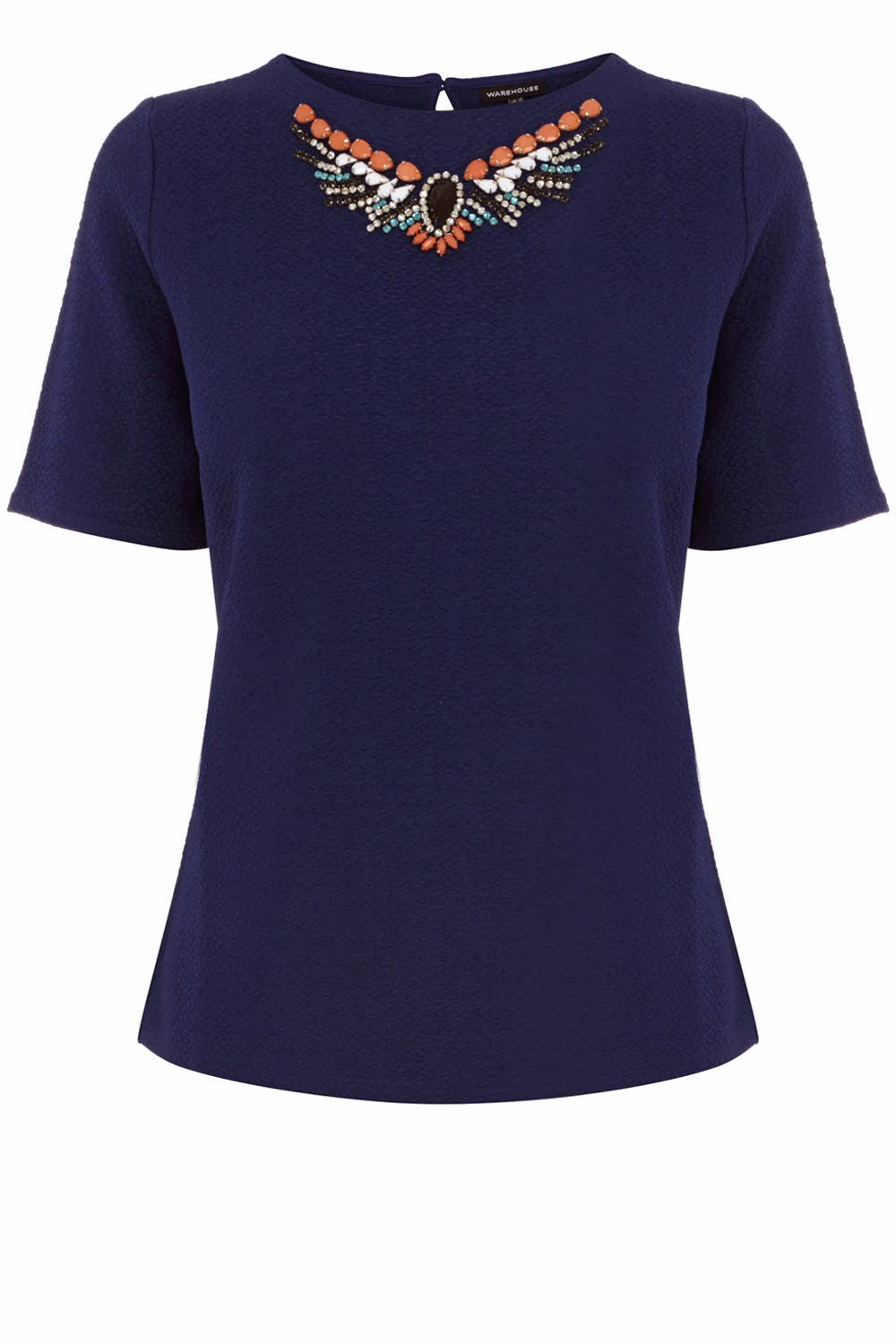 navy jewel top