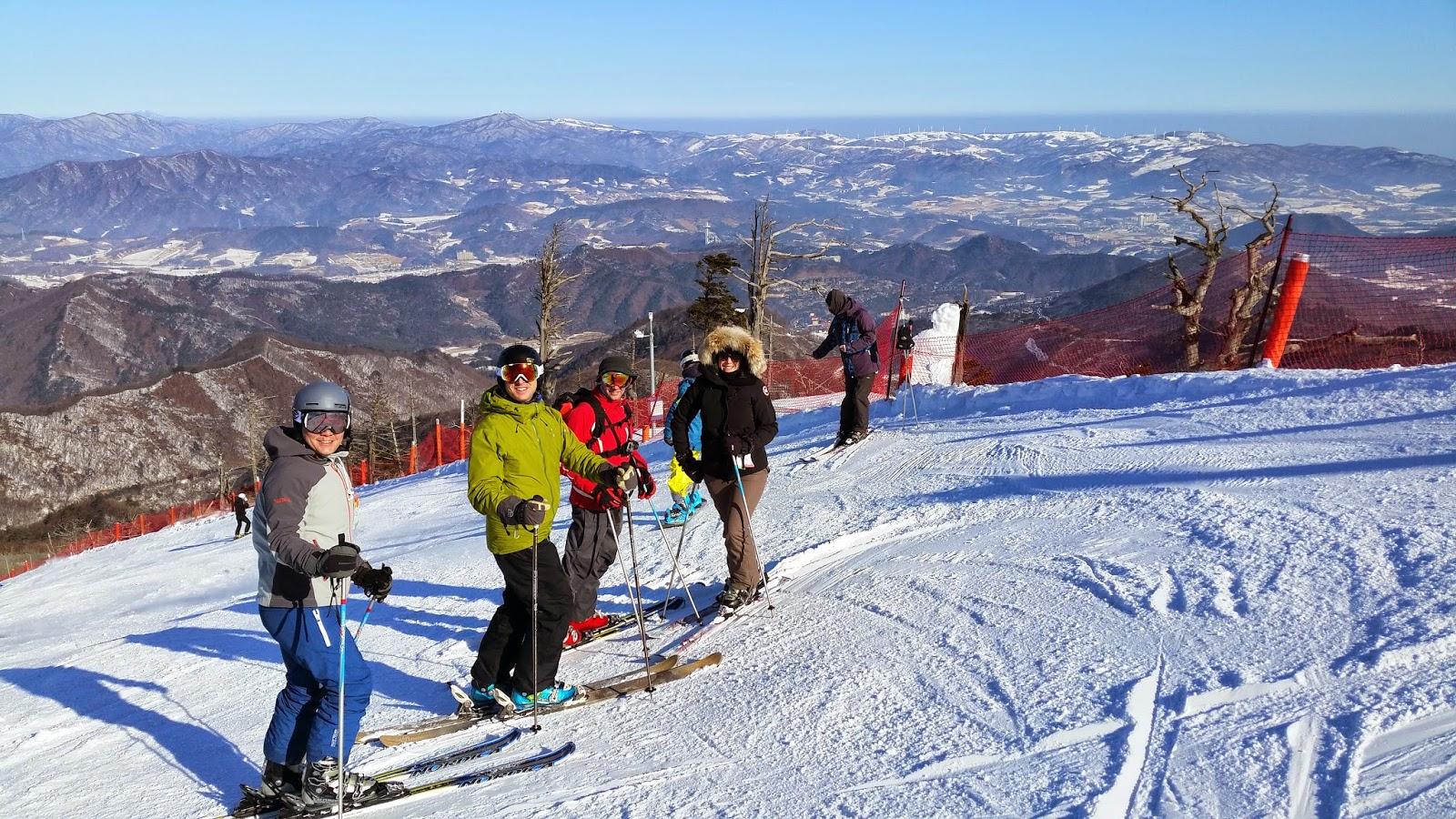 seoul adventure: yongpyong ski resort: korea best, not world class