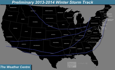 The Weather Centre: Preliminary 2013-2014 Winter Storm Tracks