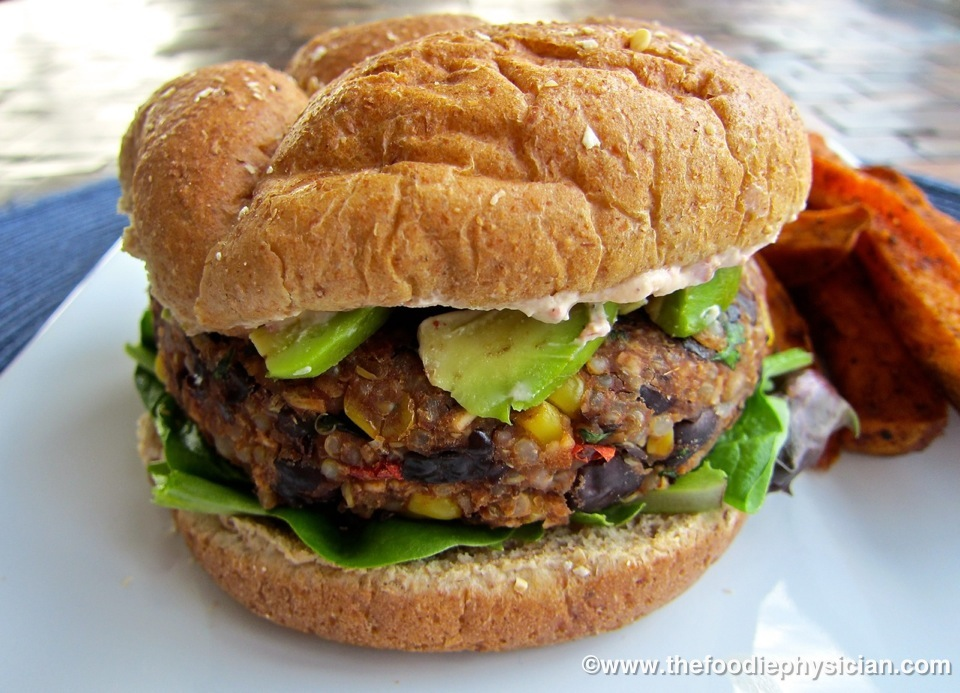 Dining with the Doc: Black Bean & Quinoa Veggie Burgers - The Foodie ...