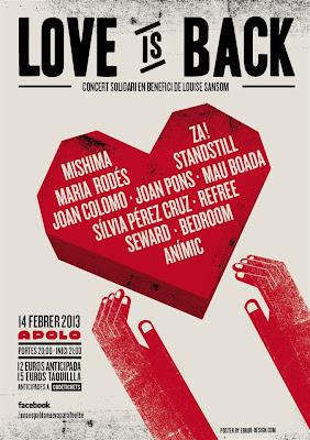 LOVE IS BACK, concierto benéfico en favor de LOUISE SANSOM