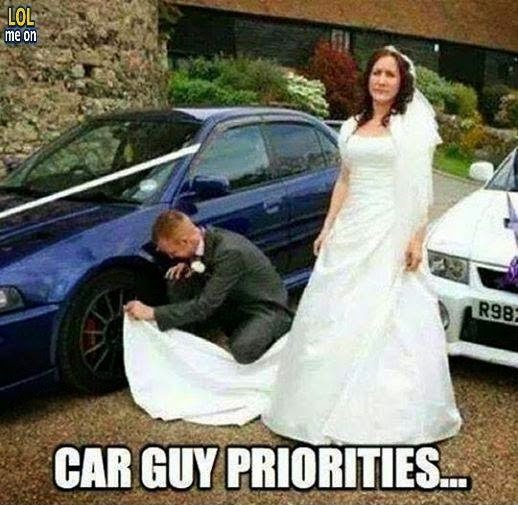 car guy priorities - funny damn fact picture