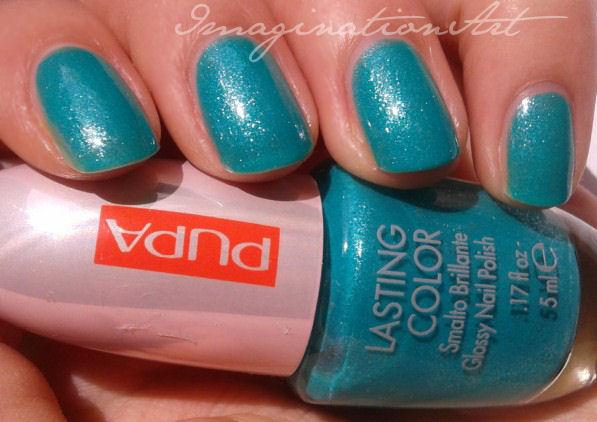 """Pupa n°742 """"50's Dream Pearly Green"""" collezione primavera 2013 swatch review recensione smalto nail lacquer polish unghie"""