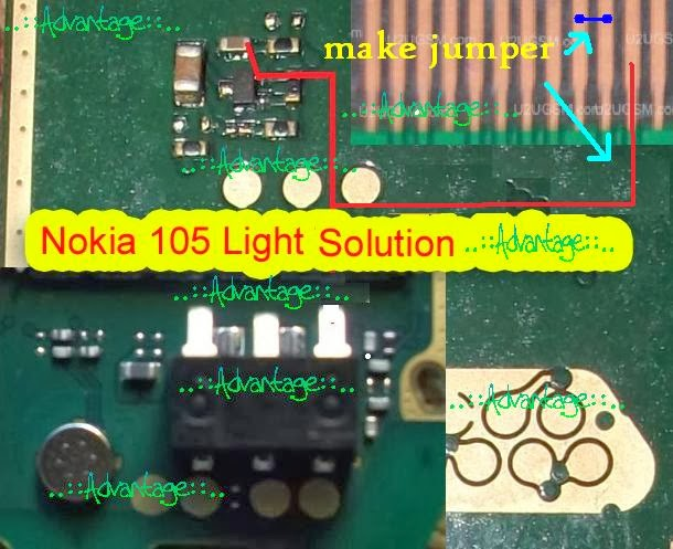 Nokia 105 Display Light Solution With Jumpers