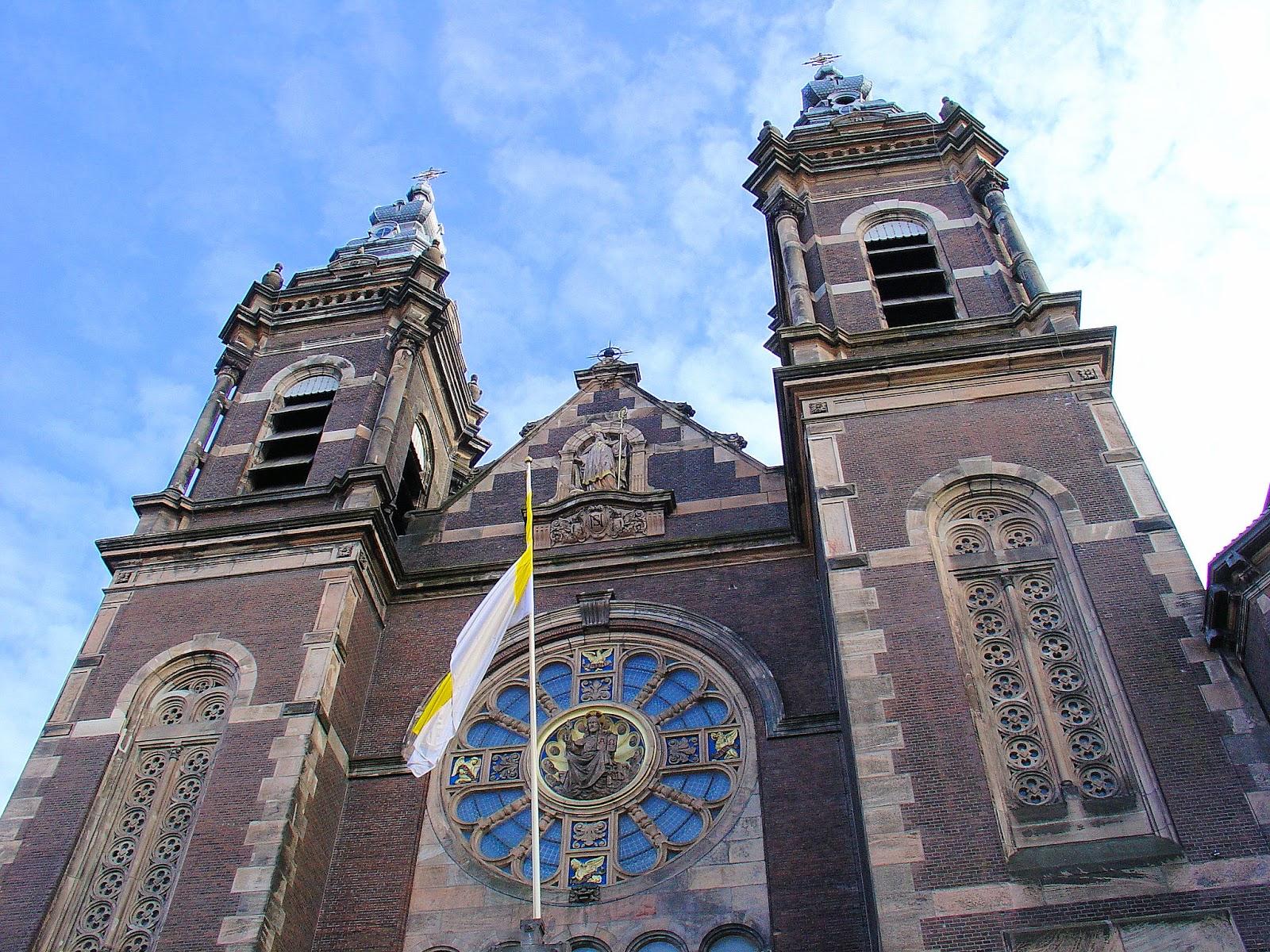 архитектура город страны Базилика Святого Николая Амстердам  № 3712228 загрузить