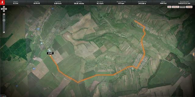 Alergare Pischia - Bencecu de Jos. Harta