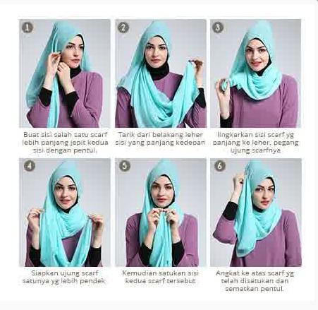 Tutorial Hijab Modern Remaja Contoh Gambar Tutorial...