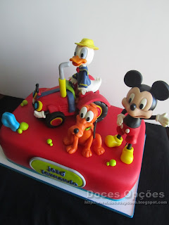 mickey farming birthday cake disney