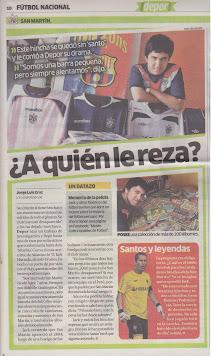 Entrevista Diario Depor (Perú)