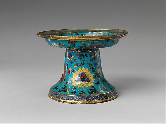 The tea horse caravan ming dynasty cloisonne cup stand for Cloison stand
