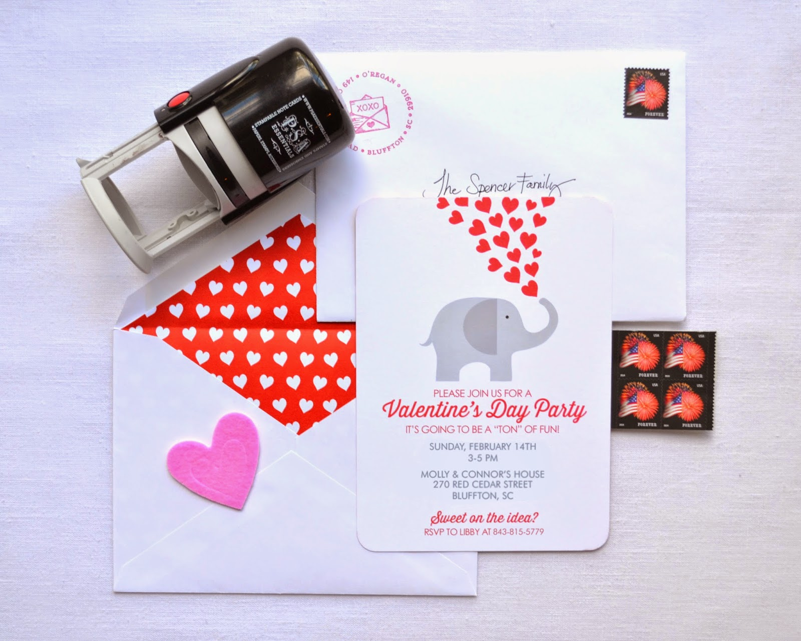 Stamp Camp: Valentine\'s Day Party Invitations