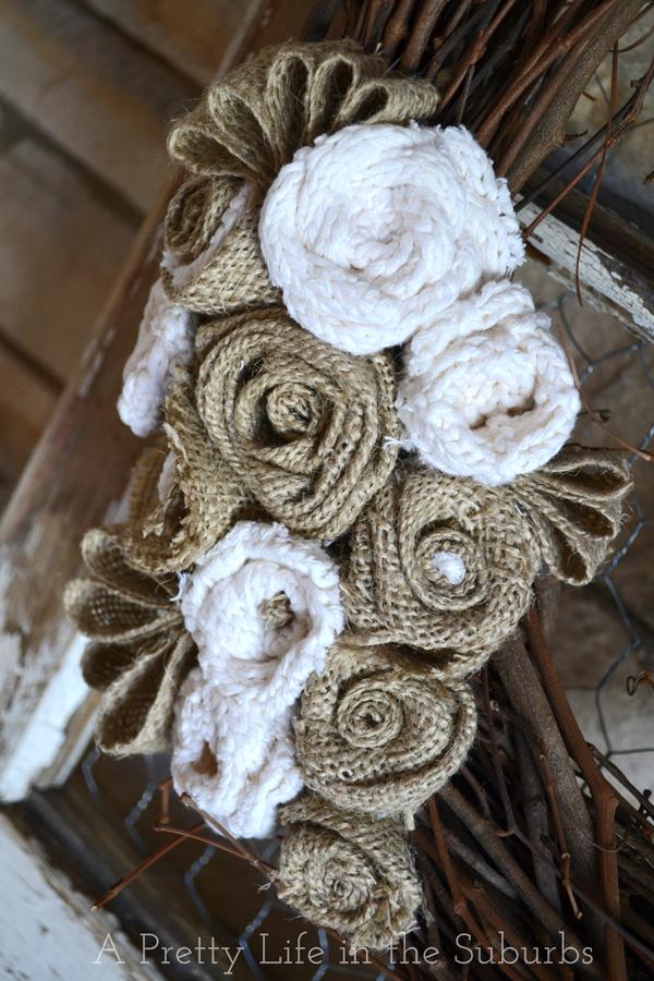 DIY Grapevine & Burlap Wreath