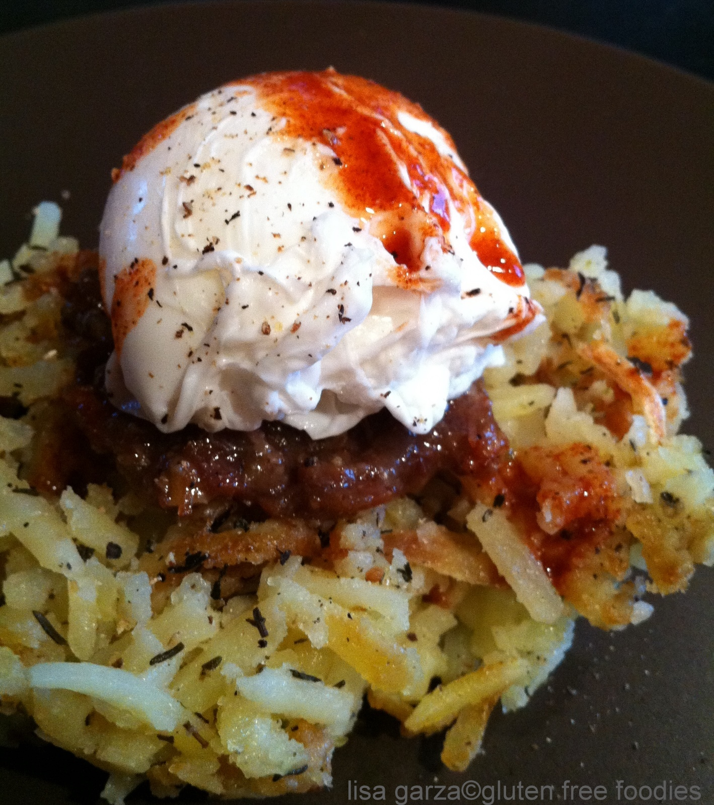 ... hash browns garden hash browns with poached eggs and bacon recipe