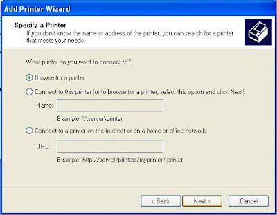 specify a printer