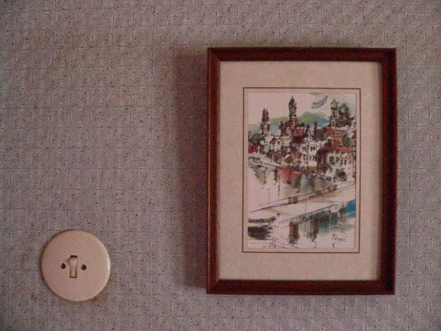 Urlaub Sommer Passau Bayern Familie Dorf Aquarell