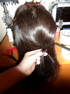 teasing braid hair style