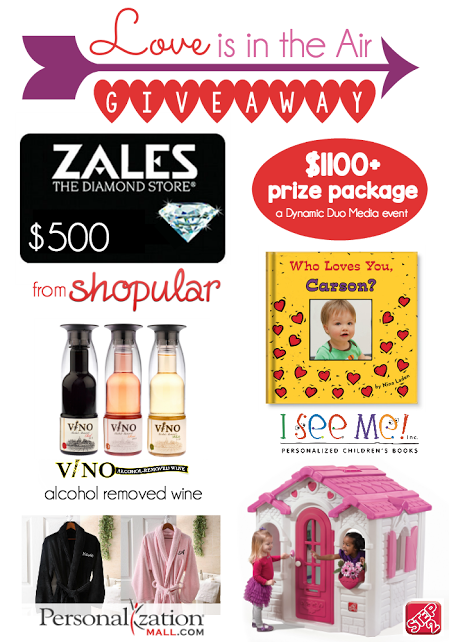 #Love is in the Air #Giveaway  prizes
