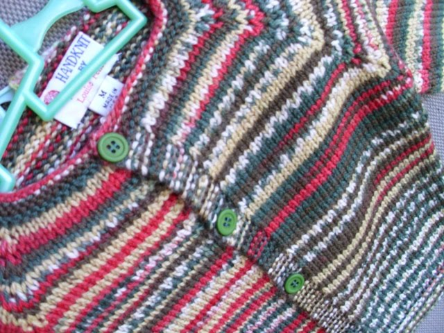 Louise Knits Top Down Cardigan No Seams Womens Size M