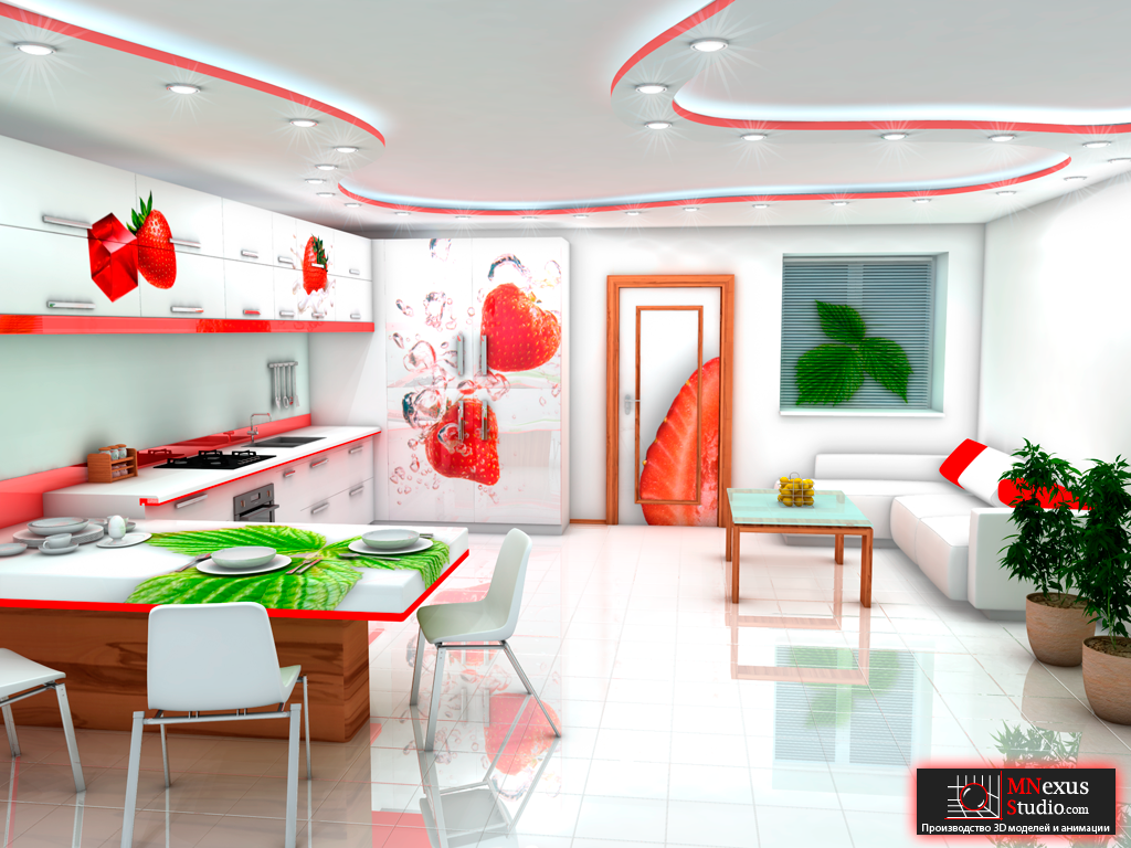 Mnexus интерьер кухни