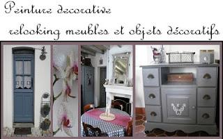 Cours peinture d corative meubles peints patin s lit patin blanc relook - Meubles peints patines ...