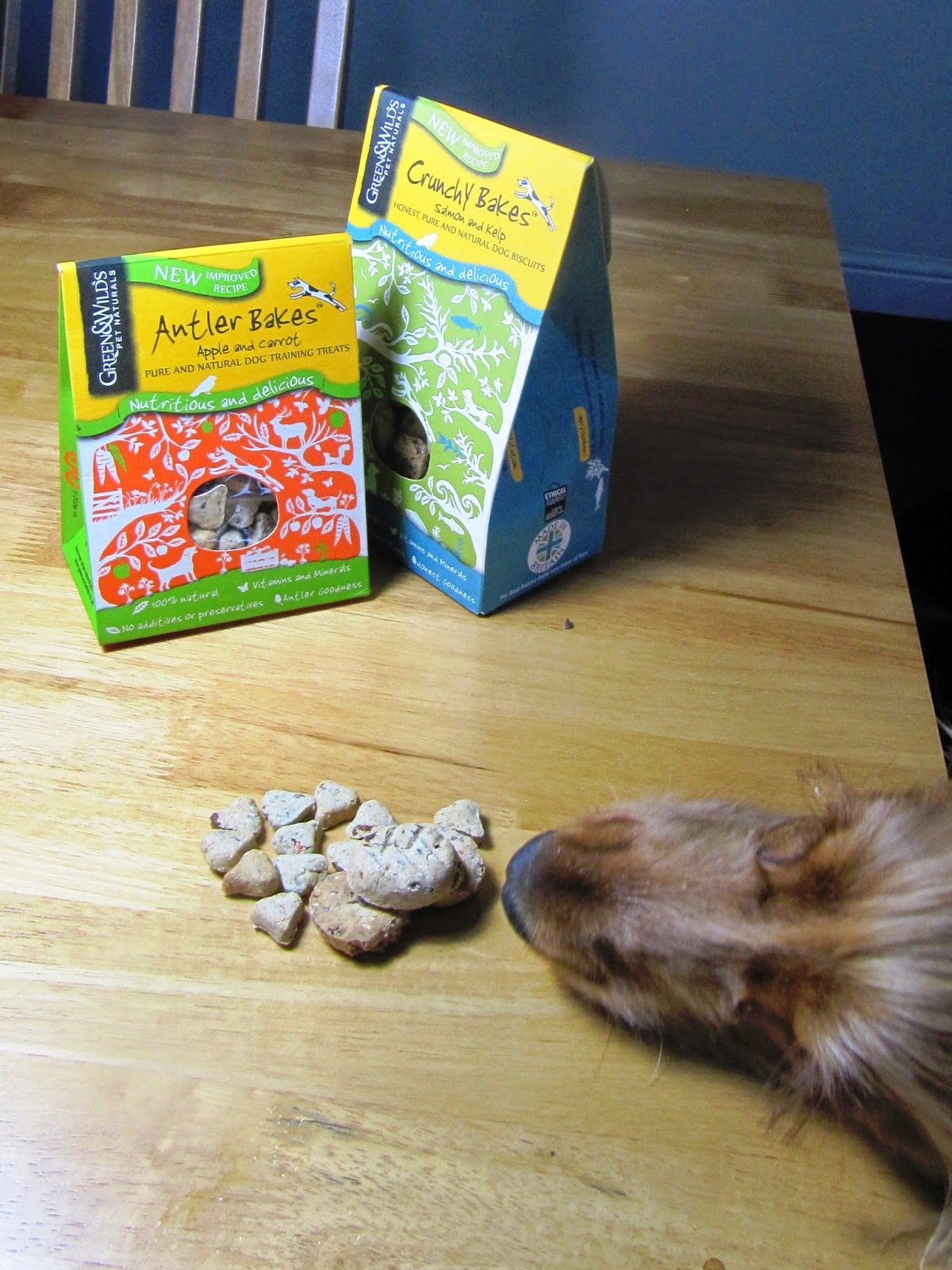 Spaniels Tail: Green and Wild's baked antler biscuits review