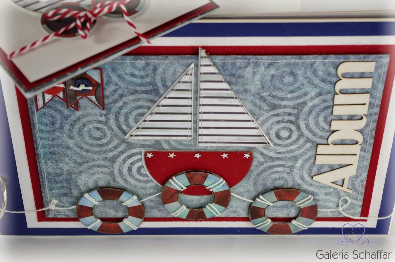 śliczny album dla chłopczyka styl morski z łódką galeria schaffar