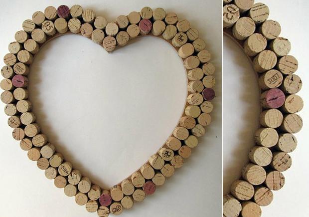Rolhas em formato de coração