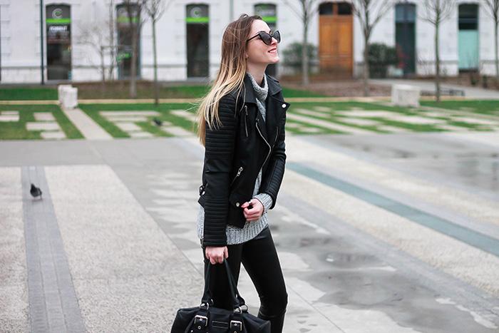 leather pant biker jacket