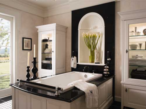 Black and White Bathrooms Decorating Ideas
