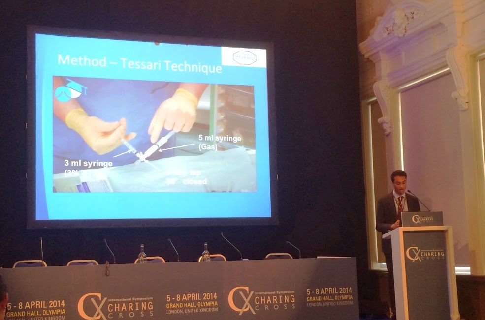 Salil Patel, Whiteley Clinic summer research fellow presenting at CX Symposium 2014