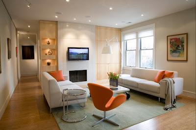 Ruang keluarga Dengan Sentuhan Warna Orange 5