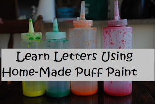 home-made puff paint, recipe,