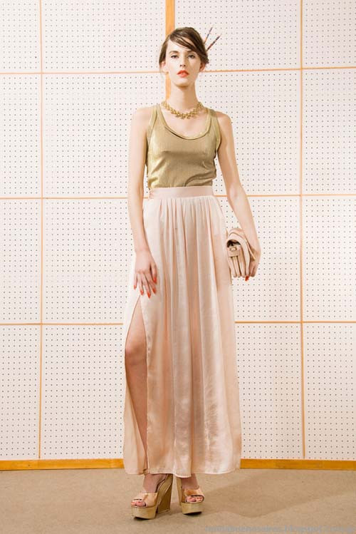 Faldas largas moda 2014 Las Pepas indumentaria argentina 2014.