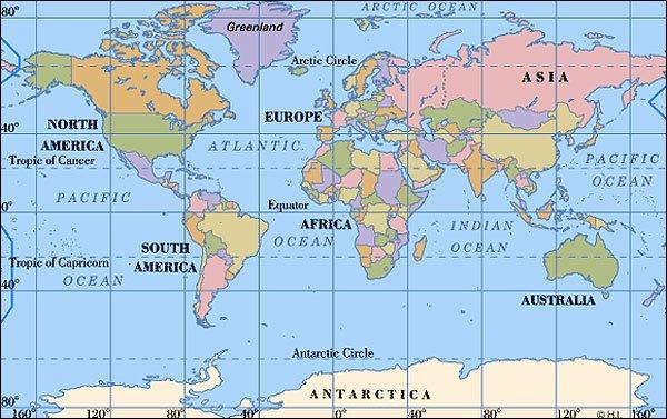 grønland verdenskort