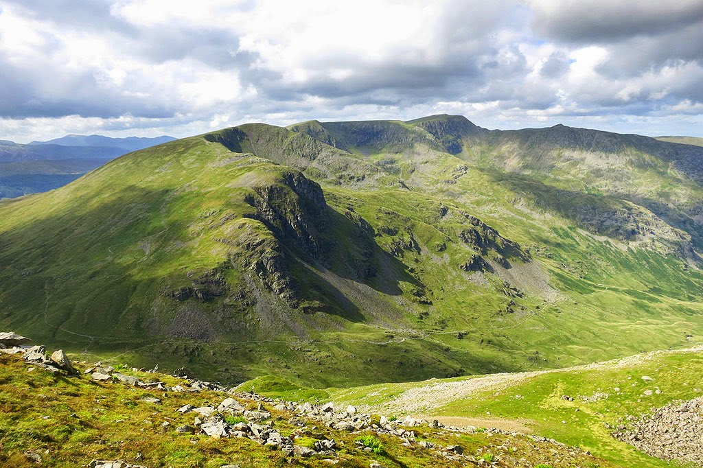 Looking towards Helvellyn in the distance, England's Second Highest Mountain - with Striding Edge to the right.