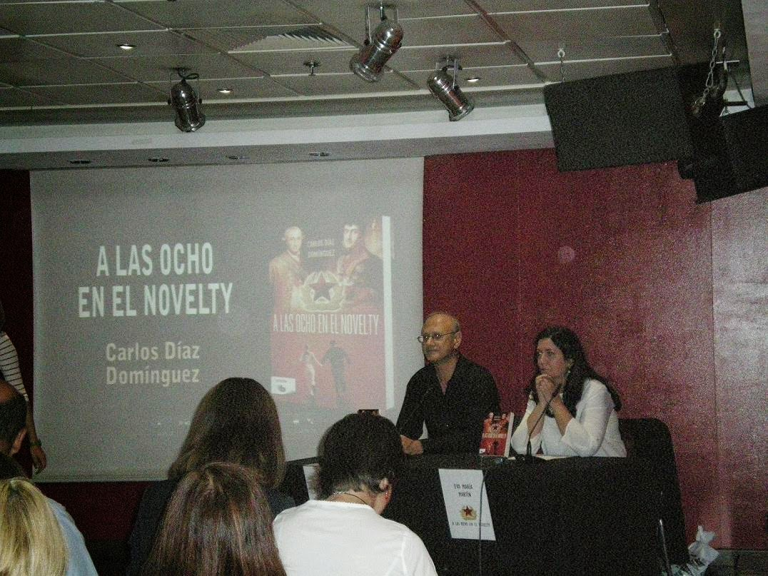 A las ocho en el Novelty, Salamanca, Eva Martín, Carlos Díaz Domínguez