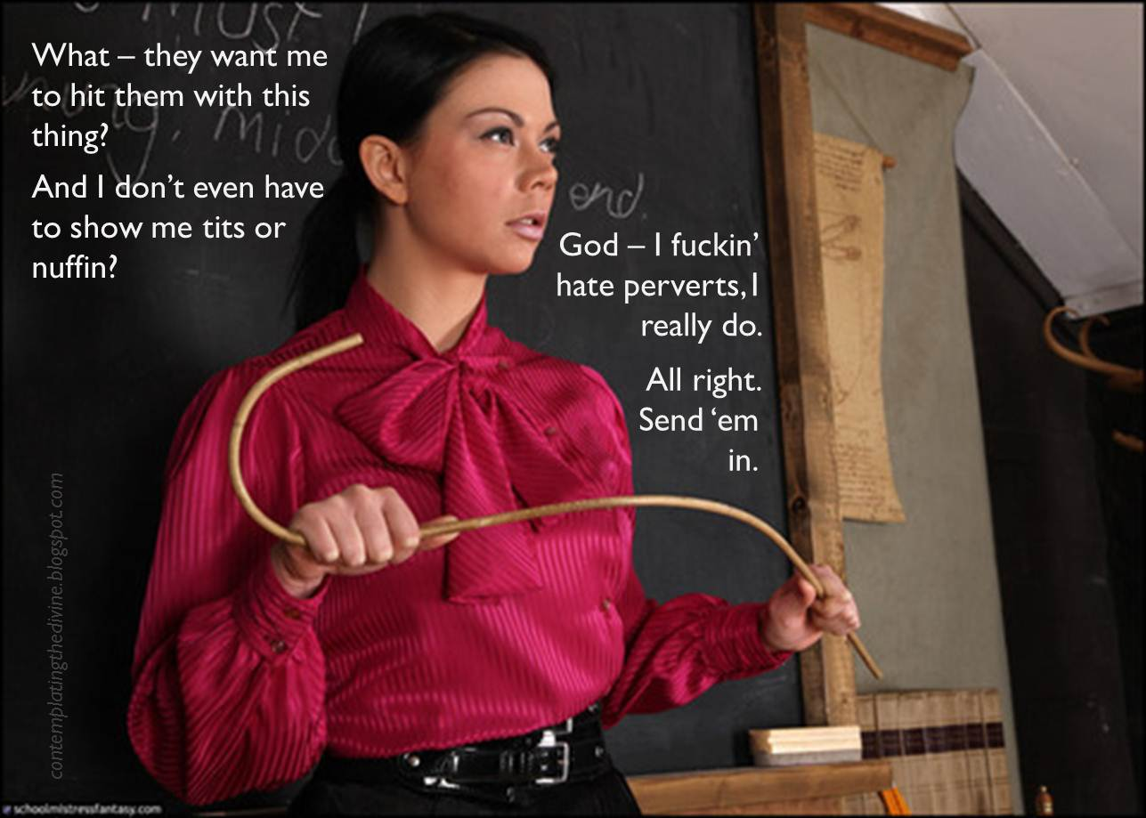 Domme with a cane - I'm detecting a pattern here
