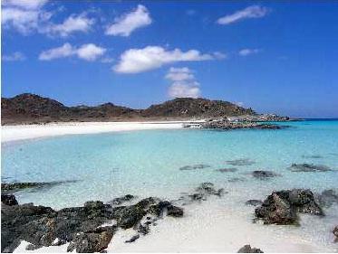 Plaja in Socotra